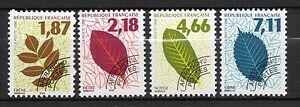 France-1996-Preobliteres-Feuilles-d-Arbres-Neuf-MNH
