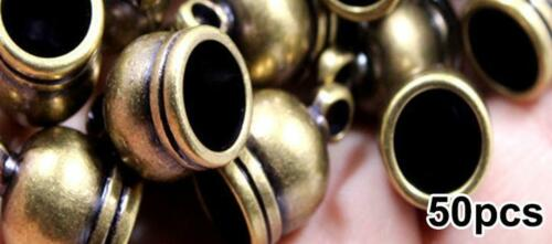 Jewelry Brass 50pcs Caps End Cap Findings Beads Accessories Craft DIY Retro //