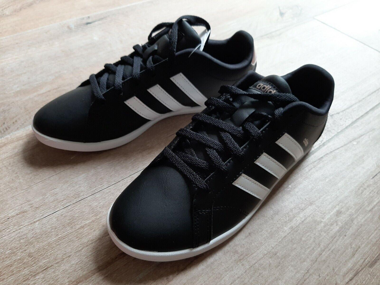 Adidas VS coneo QT W DB0126 Turnschuhe Leder Gr. 37 1 3 UK 4,5 schwarz Neu damen
