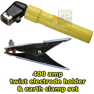 400amp welders twist type electrode rod holder & welding earth clamp set 5mm rod