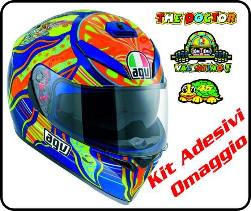 Helmet moto Agv K3 Sv Valentino Rossi 46 Five Continents stickers casque helm