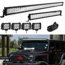 """52/"""" 3600W+22/"""" 1440W Quad Row LED Light Bar+18W For Jeep Wrangler JK YJ TJ CJ LJ"""