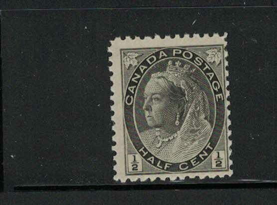 CANADA-MNH- QUEEN VICTORIA NUMERAL ISSUE 1/2c #74 ISSUED 1898 SEE PHOTO