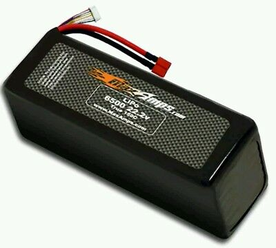 MaxAmps 6500 6cell 22.2v Lipo Battery 6s 150c Align 600 helicopters T-Rex 700E