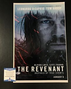 LEONARDO-DICAPRIO-SIGNED-AUTO-THE-REVENANT-12X18-PHOTOGRAPH-BAS-BECKETT-COA