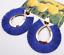 Women Big Fan Shape Hoop Tassel Fringe Ear Stud Dangle Earrings Fashion Jewelry