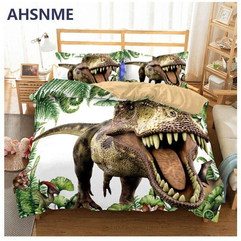 Jurassic World Tyrannosaurus Rex ensemble de literie enfants couette housse AU UE nous RU