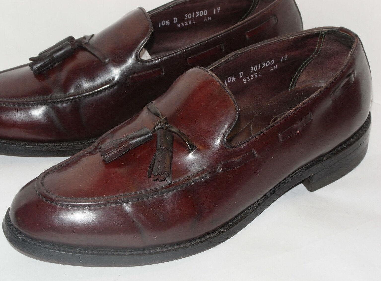 Vintage Cuero Shell cordobesa FLORSHEIM IMPERIAL Borla Mocasín Zapatos  10.5 D