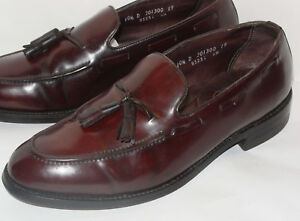 3a116584eb7 Image is loading VINTAGE-FLORSHEIM-IMPERIAL-SHELL-CORDOVAN-LEATHER-TASSEL- LOAFER-