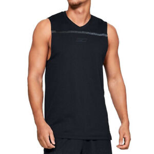 Under Armour UA HeatGear SC30 Basketball Mens Ultra Performance Tank Black Vest