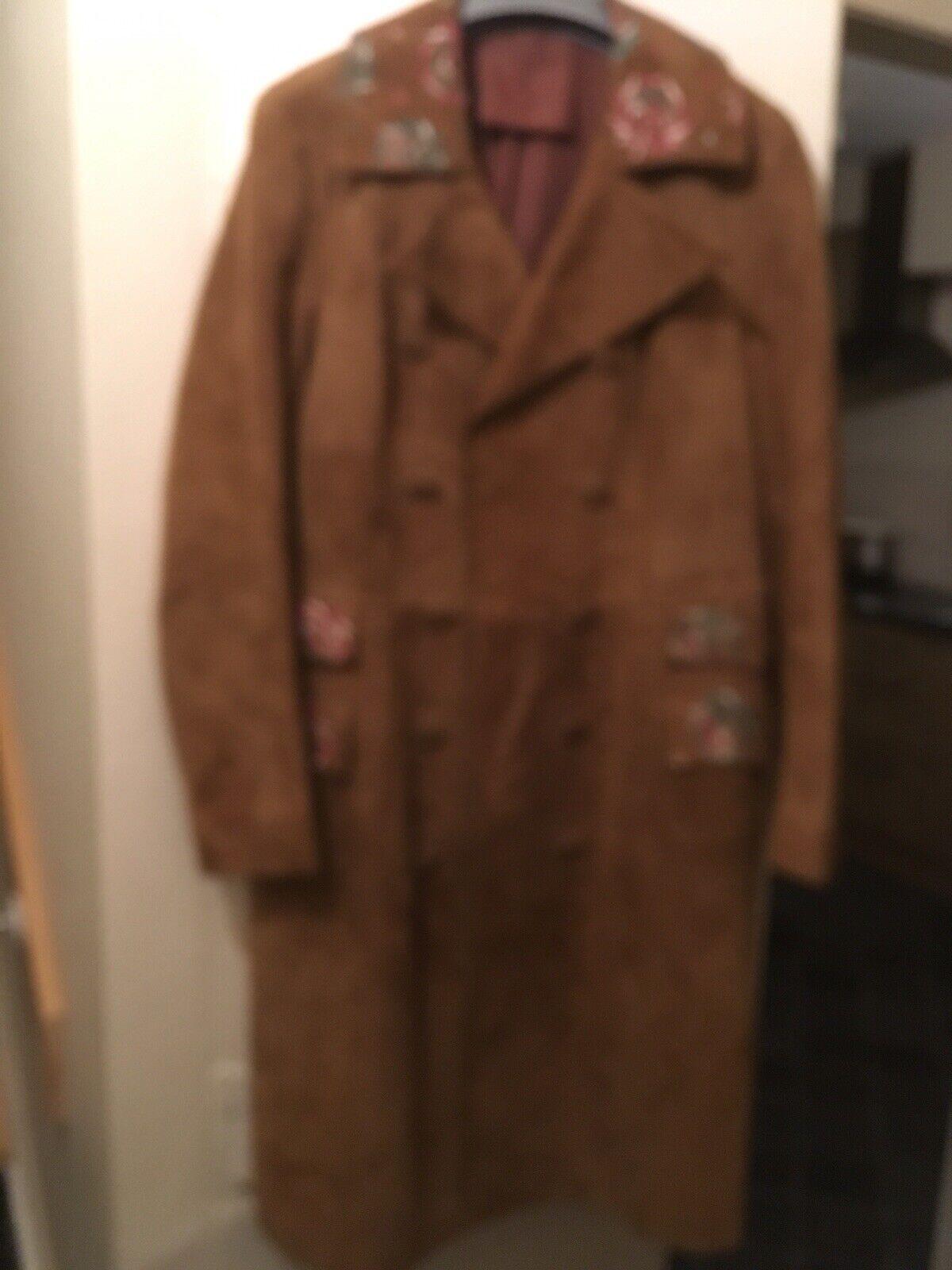 Ladies 1950 1960 Original Suedecoat Size 10 12 Beautifull Beautifull Beautifull Long Beigey LinedHeavy 52fa62