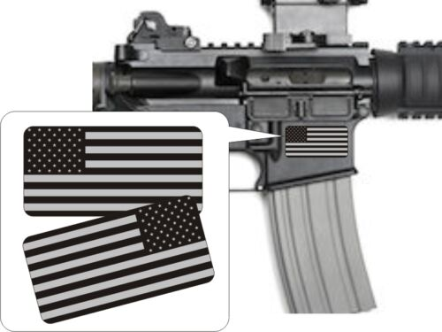 Pair American Flag Black Ops Stickers DecalsPunisher AR-15 5.56 Stickers AR15