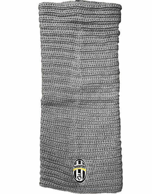 1 Halsband Juventus Acryl Wolle Grau Sehr Billig