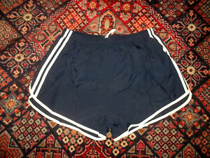 Sporthose-franzoesische-Shorts-armee-oldschool-retro-sport-pants-navy-Gr-XS-XL
