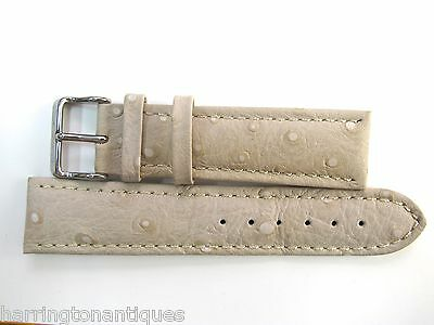 22MM GERMAN MADE SPECKLED CREAM XL LEATHER STITCHED GLYCINE STRAP & BUCKLE #B