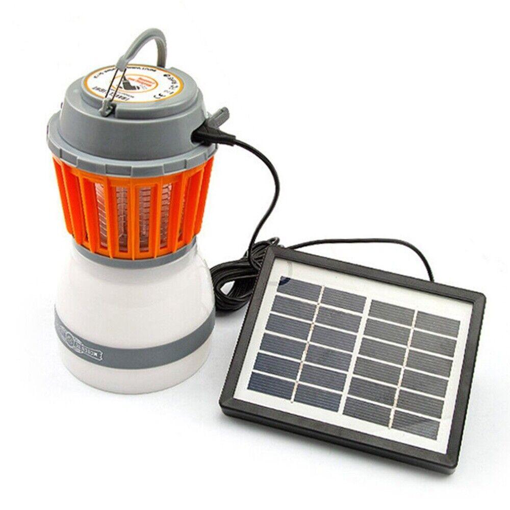 Insektenvernichter Mückenlampe Campinglampe Solar USB LED Campinglaterne