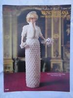 Paradise Crochet 11 1/2 Doll Pattern Princess Diana 1989 Beaded Evening Suit