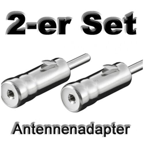 2 x adaptador de antena antena radio del coche auto KFZ Radio Adaptador Conector DIN ISO