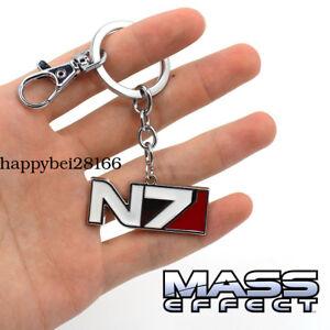 Game Mass Effect Keychain Keyring Pendants Cosplay Otaku Gifts Metal Pendant Ebay