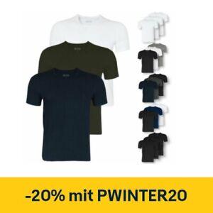 3er Pack HUGO BOSS Herren T-Shirts Shirt kurzarm Crew-Neck V-Neck Farbwahl