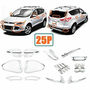 Upgrade Carbon Fiber Door Handle Covers Trims For 2013-2019 Ford Escape SUV