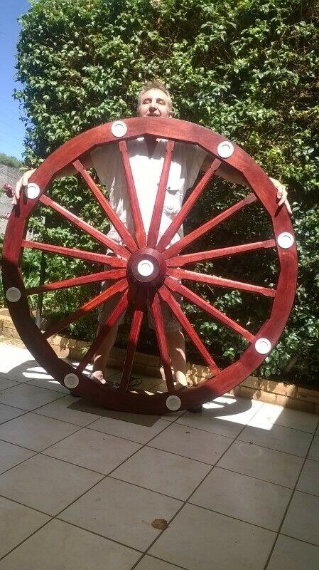 Rustic wagon wheel chandelier