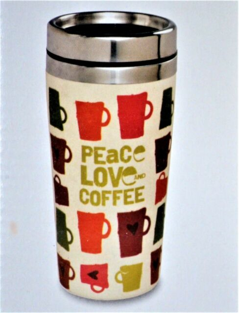 Travel Tea Coffee Steel Peace Fiber Bamboo Love Cup 14oz Stainless Cold Mug Hot ZTXPkuOi