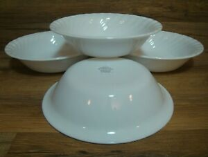 SET-OF-4-CORNING-CORELLE-WHITE-SWIRL-ENHANCEMENTS-7-1-4-034-SOUP-CEREAL-BOWLS