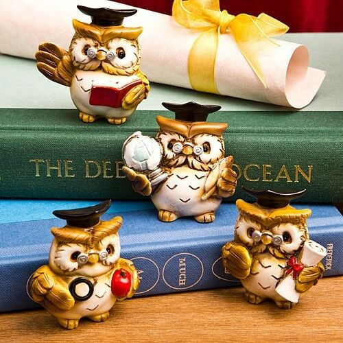 48 Hand Painted Wise Owl Graduation Magnets Gift Favors