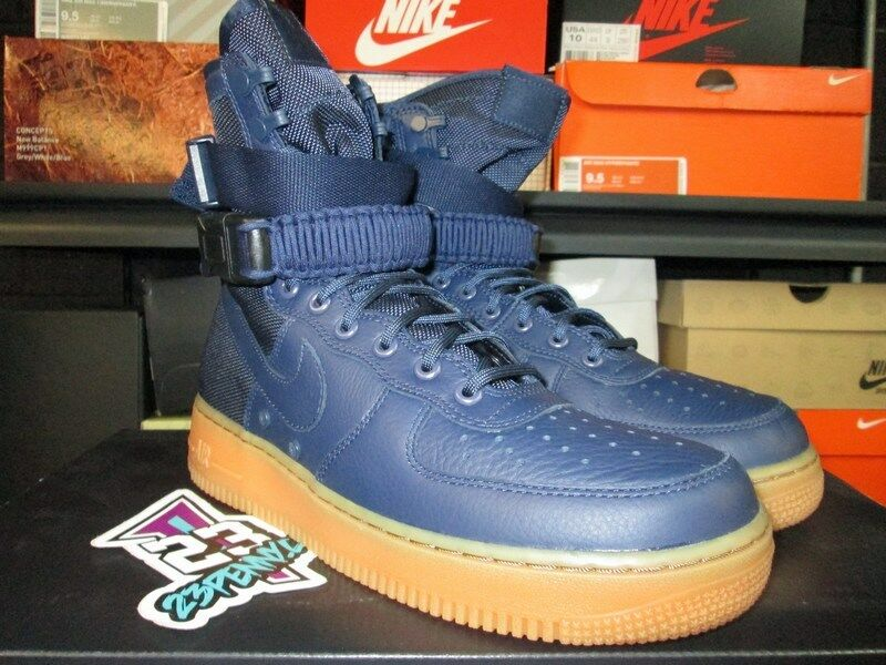 SALE NIKE AIR FORCE 1 HIGH SF SPECIAL FIELD MIDNIGHT NAVY BLUE GUM 864024 400