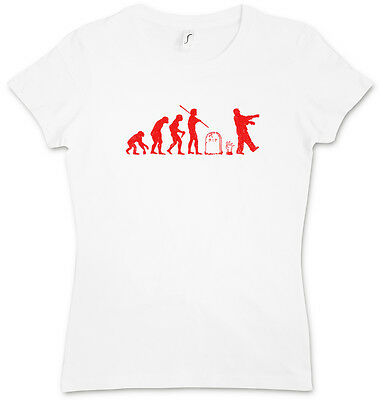 ZOMBIE EVOLUTION II GIRLIE SHIRT - The Walking Girlie Living Walkers Horror Dead