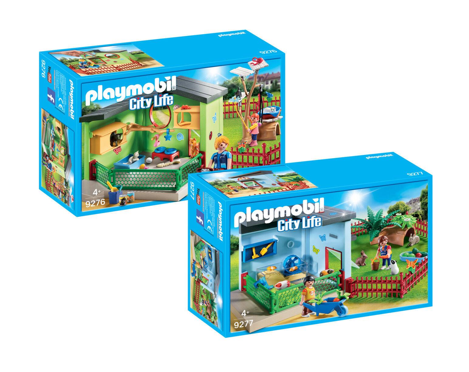 PLAYMOBIL ® per 9275 Hotel animali 2 pezzi Ergänzungsset: 9276 + 9277, Nuovo, Confezione Originale