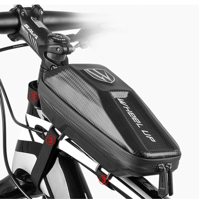Bicycle Front Frame Triangle Bag Cycling Bike Tube Pouch Holder Saddle Panniers#