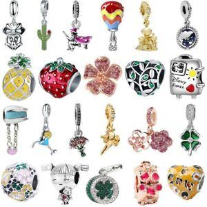 Fashion-European-Charm-DIY-pendant-Bead-For-sterling-S925-silver-Bracelet-Bangle