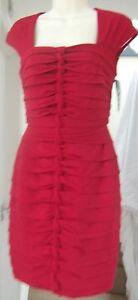 NEW-JAX-DARK-RED-STRETCHY-SHUTTER-DRESS-Size-6-8