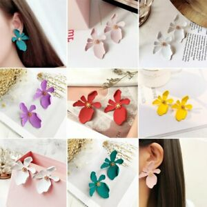 New-Design-Fashion-Summer-Style-Jewelry-Elegant-Flower-Statement-Earring-Party