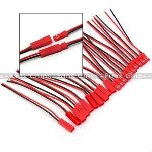 5-10-20-pares-100mm-Enchufe-Conector-de-la-linea-de-Cable-Macho-JST-Hembra-F-RC-Lipo-Bateria