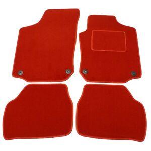 FIAT PANDA 2012 ONWARDS TAILORED CAR FLOOR MATS BLACK CARPET WITH RED TRIM