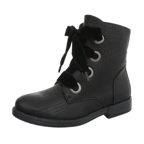 Schnürer Boots Damenschuhe 4823 Ital-design