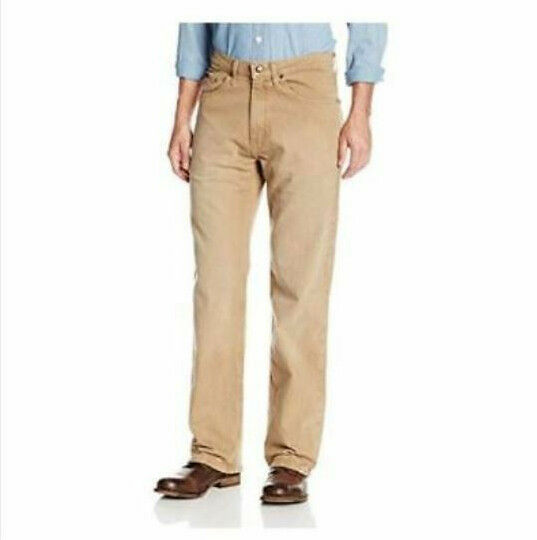 Lee Men's Premium Select Relaxed-Fit Straight-Leg,TAN 34X32 NEW