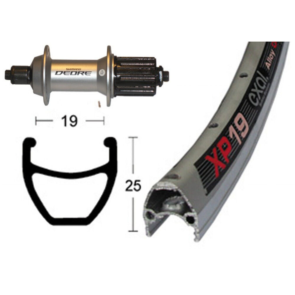 Hinterrad 28x1.75 28x1.75 28x1.75 Deore SSP 36L Exal XP 19   Niro Speichen Silber Fahrrad d9d084