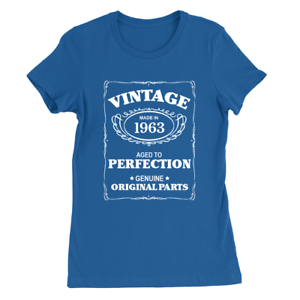56th Birthday Present Gift Year 1963 Aged To Perfection Funny T-Shirt Unisex Tee