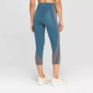 C9 By Champion Para Mujeres Cintura Alta Leggings Capri De Entrenamiento Enebro Azul Tamano Pequeno Ebay
