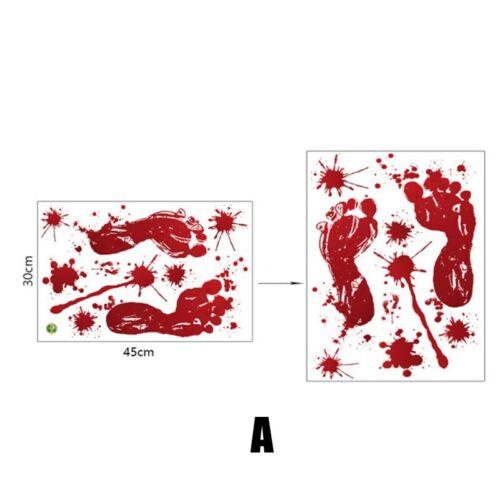 Halloween Bloody Footprints Window Door Cling Sticker Decor
