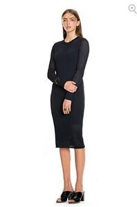 CR-LOVE-SZ-M-12-NEW-COUNTRY-ROAD-NAVY-MESH-LONG-SLEEVED-Dress