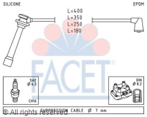 Spark Plug Wire Set Facet 4 7239 Fits 01