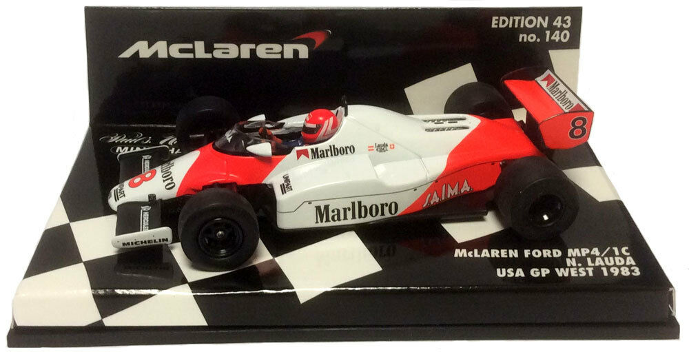 Minichamps mclaren ford MP4 1C us gp west 1983 niki lauda 1 43 (decals appliquée)