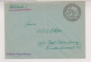 BUND-Postsache-SST-Regensburg-Fleischer-Verbandstag-16-6-50-Faltbug