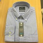 M&S New PURE COTTON OXFORD Mens Shirt Check Long Sleeve Casual Work