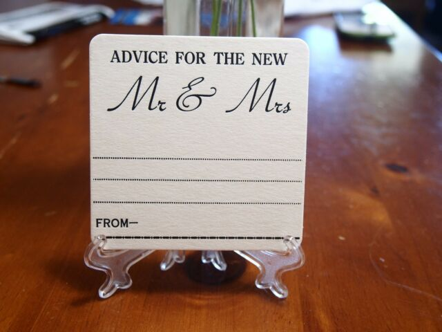 ADVICE FOR THE NEW MR & MRS on White Coasters x 100